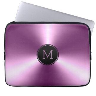 Glättad skina metallisk purpurfärgad rostfritt laptop sleeve