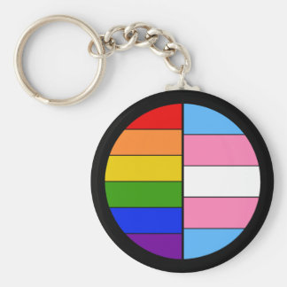 GLBT-solidaritet Keychain (knäppas stil), Rund Nyckelring