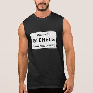 Glenelg vägmärke, Skottland, UK Sleeveless T-shirt