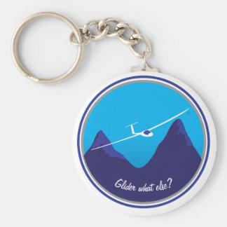 Glidflygplan - vad annat? rund nyckelring