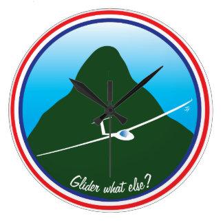 Glidflygplan - vad annat? stor klocka