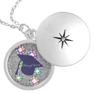 Glitter Bling för marinstudentmössaFaux Silverpläterat Halsband