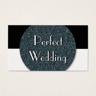 Glitter för bröllopsfixarenvisitkortblått visitkort
