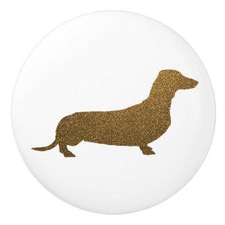 Glitter för Faux för taxhundsymbol (till höger) | Knopp