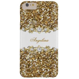 Glitter för juvel för diamant för Faux för Barely There iPhone 6 Plus Skal