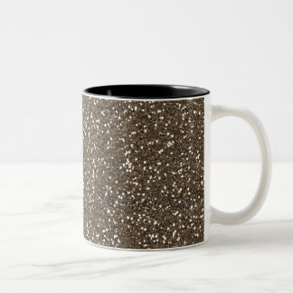 Glitter för kaffebönaFaux Två-Tonad Mugg