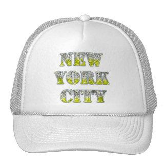 Glitter för New York City silverguld Keps