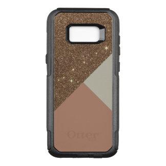 Glitter och Taupe för elegant glamorös Faux guld- OtterBox Commuter Samsung Galaxy S8+ Skal