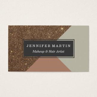 Glitter & Taupe för elegant & glamorös Faux guld- Visitkort