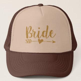 Glitter-Tryck för Bride|Bride Tribe|Golden Keps