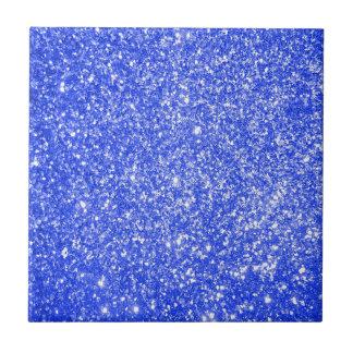 Glitterblått Liten Kakelplatta