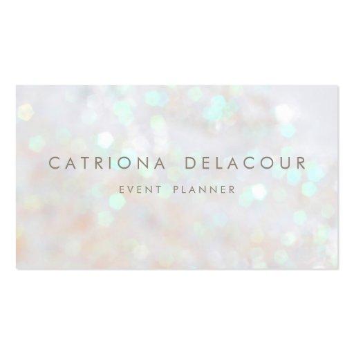 GlitterBokeh för vit subtil visitkort