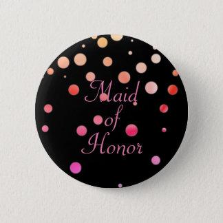Glitterfauxen omkullkastar konfettiar pricker maid standard knapp rund 5.7 cm