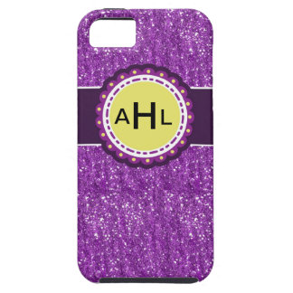 Glitteriphone case med monogramen iPhone 5 hud