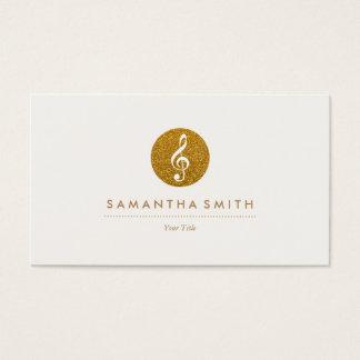 Glittermusikalen noterar logotypvisitkorten visitkort