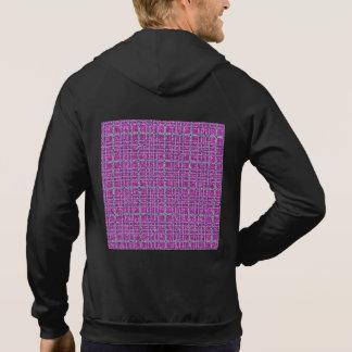 Glittery purpurfärgad medvetenhetpläd hoodie