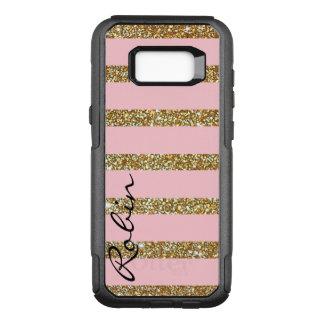 Glitzguld och rosa Otterbox Samsung S8 fodral