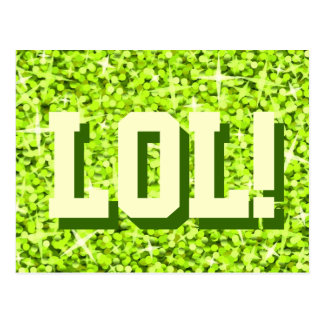"""Glitzlimefrukt """"LOL!"""", vykort"""