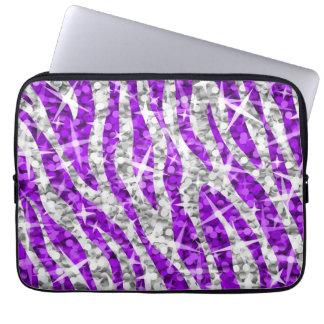"Glitzsebralilor 13"" laptop sleeve laptopskydd fodral"