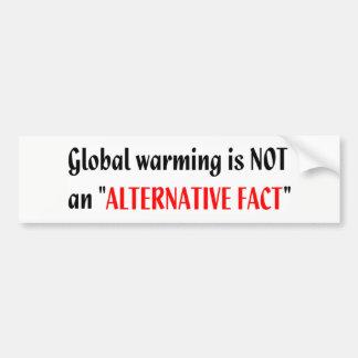 Global alternativ faktumbildekal för värme inte bildekal