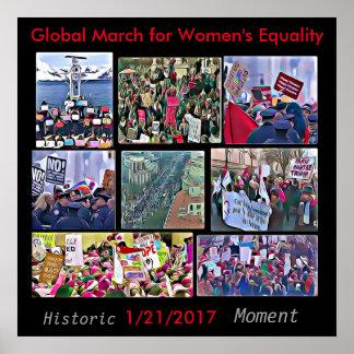 Global mars för kvinna jämställdhetaffisch poster
