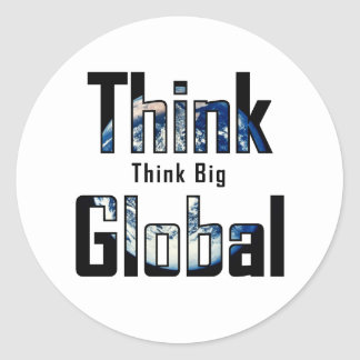 Global stor tänka för tänka runt klistermärke