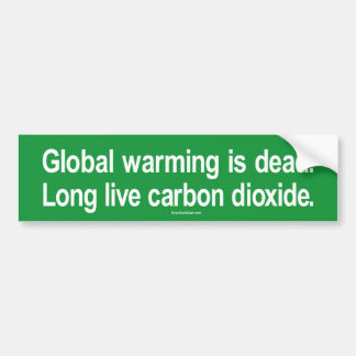 Global värme är död. Bo Long global värme Bildekaler