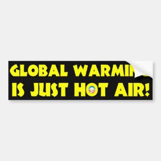 Global värme är precis hettluft bildekal