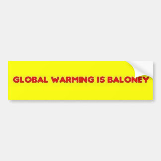 Global värme är struntpraten bildekal