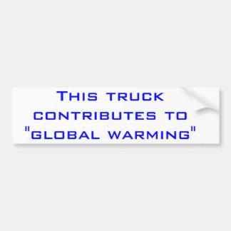 Global värme bildekal