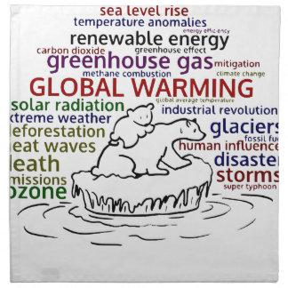 Global värme får effekt den polara björnen och tygservett
