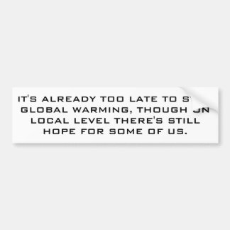 Global värme för realists. bildekal