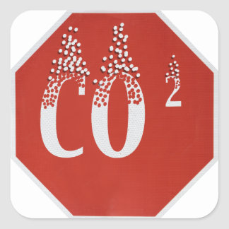 Global värme fyrkantigt klistermärke