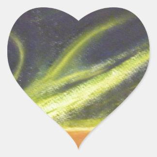 Global värme hjärtformat klistermärke