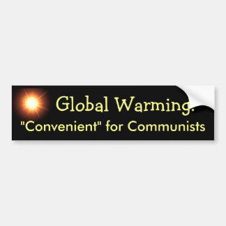 Global värme: Lämpligt för kommunister Bildekal