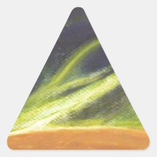 Global värme triangelformat klistermärke