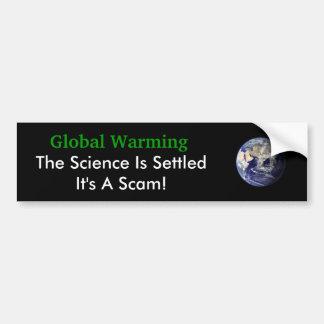 Globala Waming vetenskapen sättas Bildekal