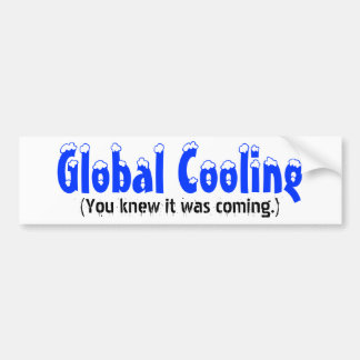 Globalt kyla, (du visste att den var kommande.), bildekal