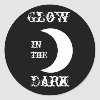 Glöd i mörken runt klistermärke