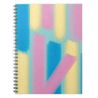 Glöd klibbar konstverk spiralbundna anteckningsböcker