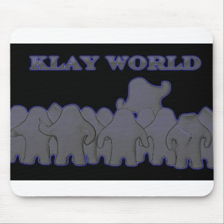 Glöd MousPad för Klay världssvart Musmatta