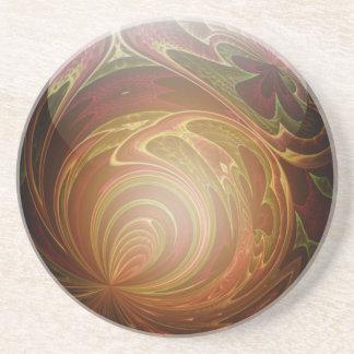 Glöda guld- texturerad Glass marmorabstrakt Underlägg Sandsten