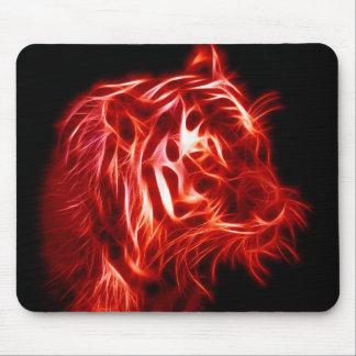 Glöda härlig röd och svart tiger musmatta