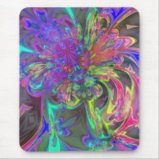 Glödande bristning av färg - kricka & violetta musmatta