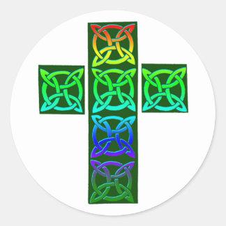 Glödande Celtic kor Runt Klistermärke