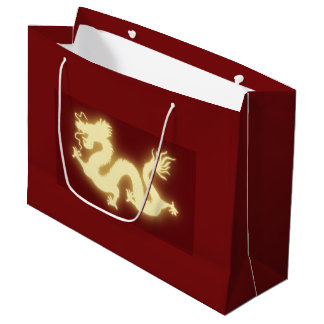 Glödande elektrisk kinesisk drakemörk - den röda