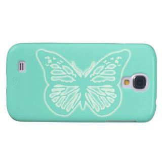 Glödande fjärilsMintgrönt Galaxy S4 Fodral