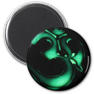Glödande grönt Om-symbol Magneter För Kylskåp