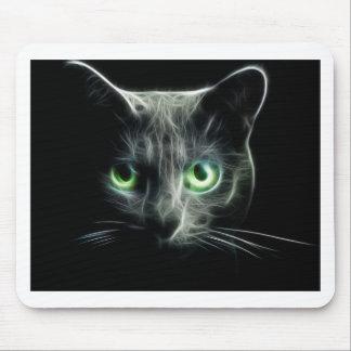 Glödande gröntögon för kattunge musmatta