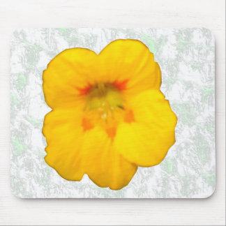 Glödande gul Nasturtiumblomma Mousepad Musmatta